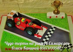 Торт гоночный автомобиль