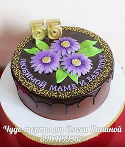 Торт маме и бабушке на 55 лет