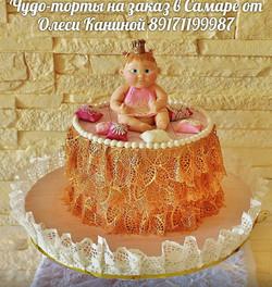 Торт с кружевами
