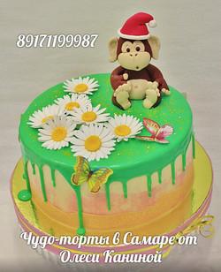 Торт с обезьяной