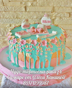 Нежный торт на год