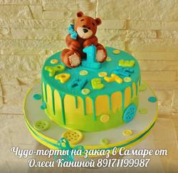 Торт мишка на 1 год
