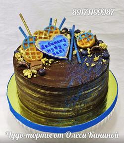 Торт с вафлями