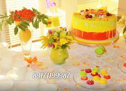 Яркий торт