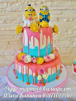 Торт с миньонами на свадьбу