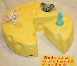 торт двойняшкам на годик