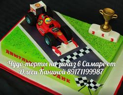 Торт гоночная машина
