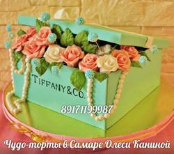 Торт тифани с розами