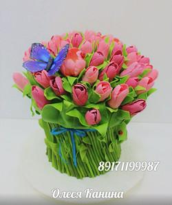 Торт букет цветов