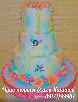Пастельный торт на свадьбу