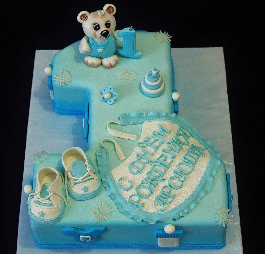 торт на годик мальчику-единичка