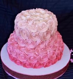 торт розовый девочке на 10 лет