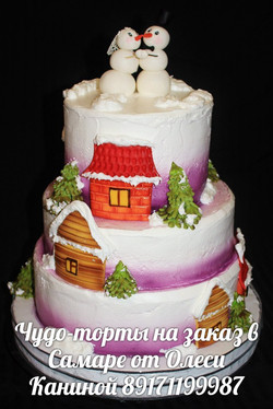 Торт на зимнюю свадьбу