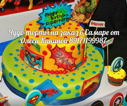 Торт комиксы