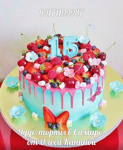 Торт на 15 лет