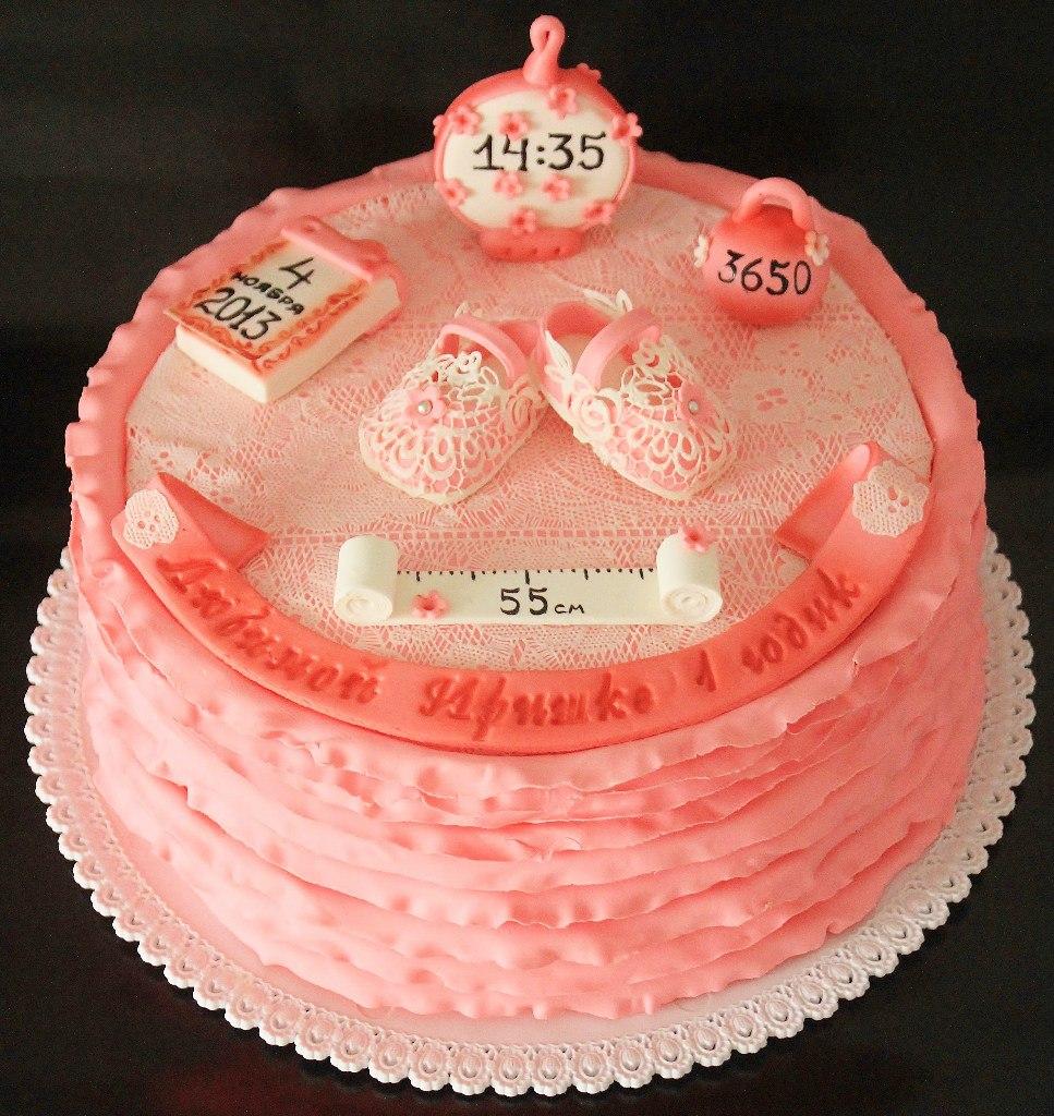торт на годик для девочки