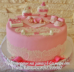Торт рождение девочки