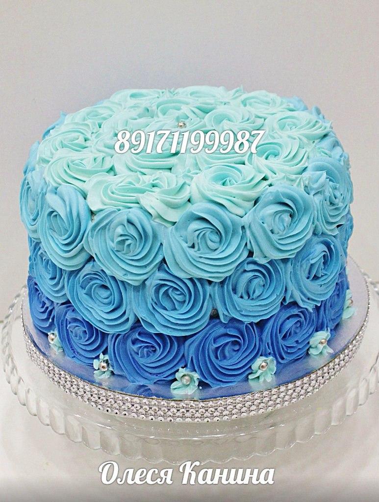 Торт розы