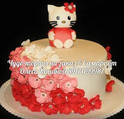 Торт hello kitty