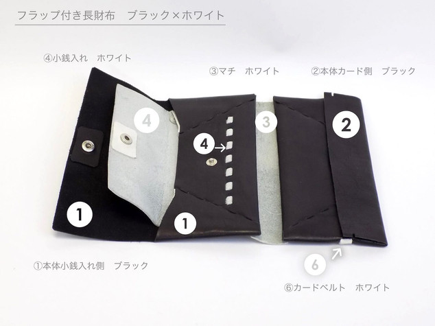 in detail image long wallet with flap