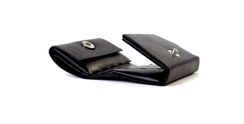三つ折り財布  オールブラック  ES-3W