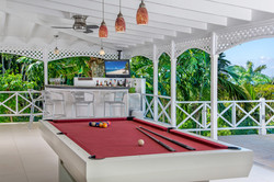 Pool Table and Bar on the Terrace