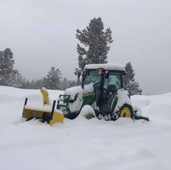 Snowy tractor