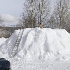 Snow pile in yard