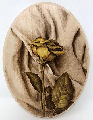 Rose on Fabric Wood Burning Tutorial