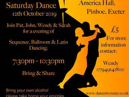 October Dance at America Hall, Pinhoe