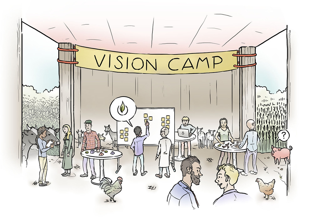 Agricultural Systems of the Future Vision Camp (Concept Illustration)
