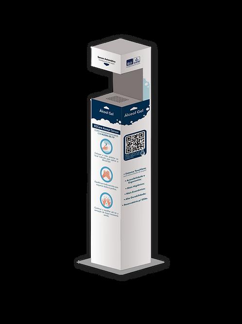 Totem Assept Sensor p/ Álcool Gel c/ Sensor Automático