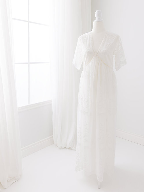 V-Neck Lace Dress