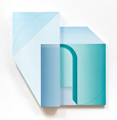 2. Illusory Pattern_O-02, 92x92cm, oil o