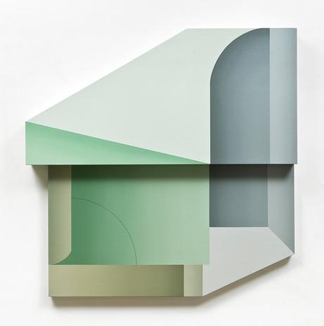1. Illusory Pattern_O-01, 92x92cm, oil o