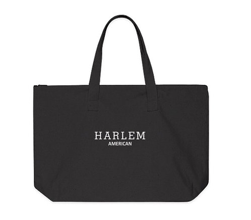 H/A 100% Cotton Canvas Zippered Tote Bag (Large)