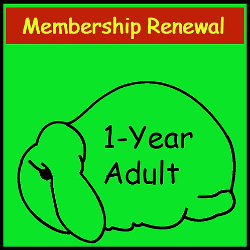 Membership Renewal- ADULT [1-year]