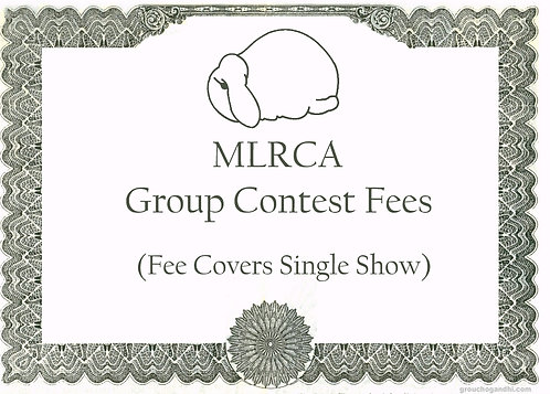Group Contest Fees --- (Per Show) (Includes Youth)