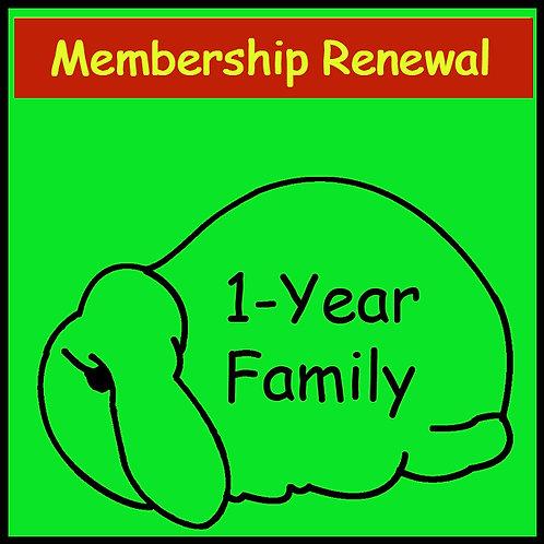 Membership Renewal - FAMILY [1-year]