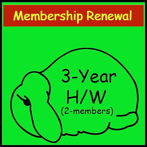 Membership Renewal - 2 Person Household [3-year]