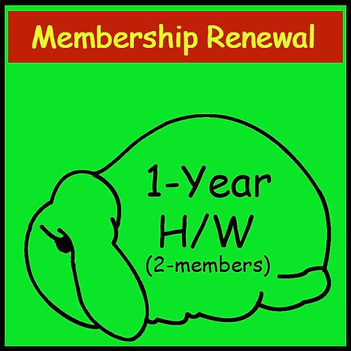 Membership Renewal - 2 person household [1-year]
