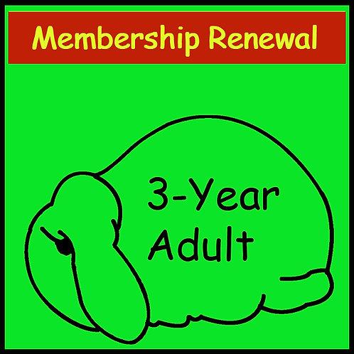 Membership Renewal- ADULT [3-year]