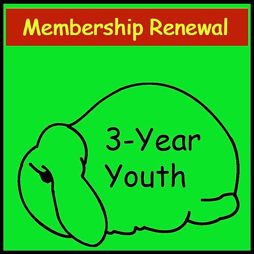 Membership Renewal - YOUTH [3-year]