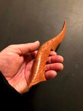 "13"" handcrafted oak wood knife - $125"
