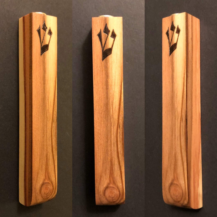"5"" cedar wood mezuzah case. - $40"