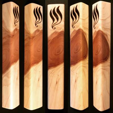 """5.5"""" cedar wood mezuzah case. - $45"""