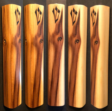 "5.5"" cedar wood mezuzah case. - $40"