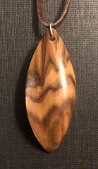 Sculptural pendant - eucalyptus wood