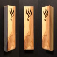 """4"""" cedar wood mezuzah case. - $30"""