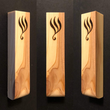 "4"" cedar wood mezuzah case. - $30"